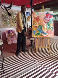 Baye Mballo Kébé rend hommage aux femmes à travers la peinture