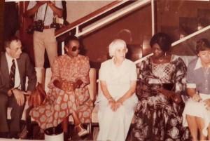 Avec Carioline Diop Faye et la mère de Jimmy Carter, ancien président des USA