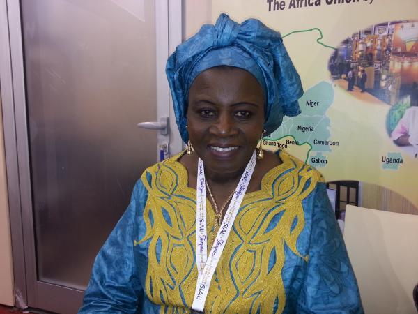 Binta coulibaly  fondatrice de LA VIVRIERE : UN EXEMPLE REUSSI DE VALORISATION DES CEREALES LOCALES.