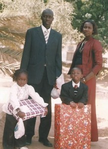 Avec sa famille