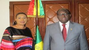 Avec  M. Moustapha Niasse, Président de l'Assemblée nationale