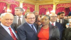 Avec M. François Hollande, Président de la République Française