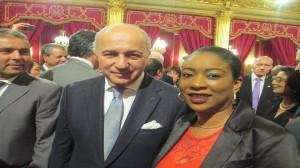 Avec M. Laurent Fabius, Ministre des Affaires Etrangères