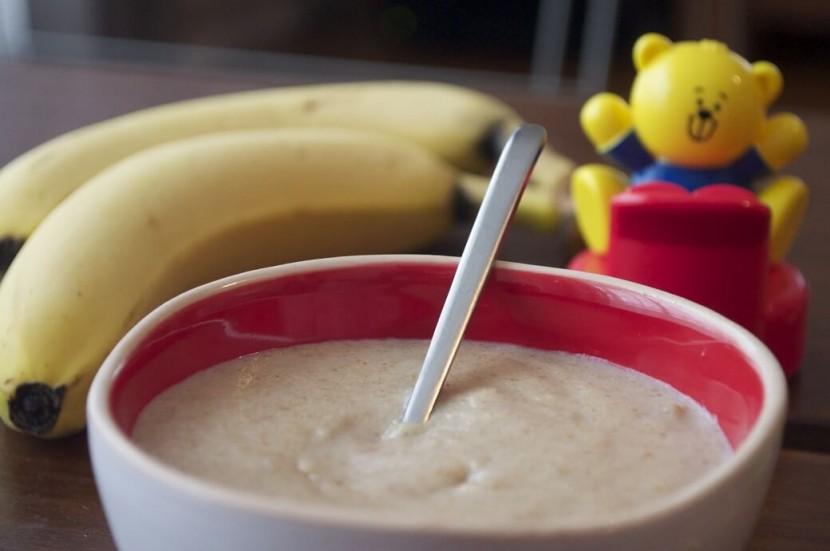 yaourt à la banane pour bébé