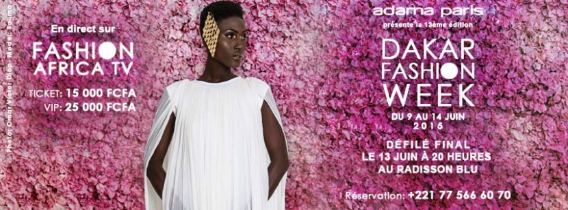 Dakar fashion week, 13e édition du 9 au 14 Juin 2015