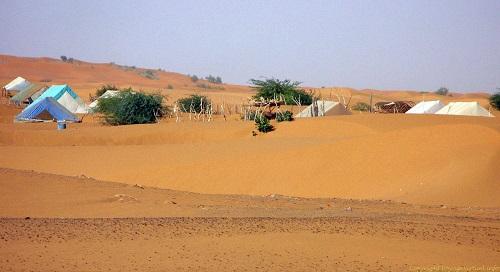 un village dans le désert mauritanien