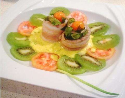 Cuisine de Aïda Guiraud : Roulés de soles aux kiwi