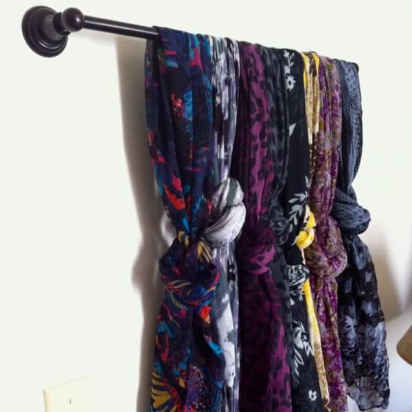 foulard sur une barre