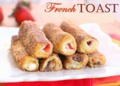 Ce dimanche on brunch avec des French Toast Roulés aux fruits !