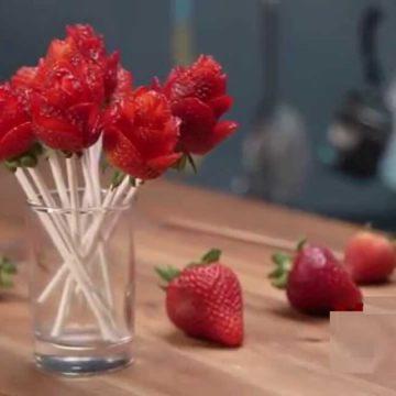 Un bouquet de roses ...ah non de fraises !!!
