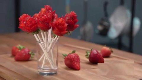 Un bouquet de roses …ah non de fraises !!!