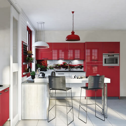 avec quelle couleur casser une cuisine rouge debbosenegal. Black Bedroom Furniture Sets. Home Design Ideas