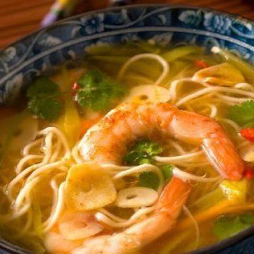 simple, équilibrée et facile à préparer, essayez la soupe de nouilles aux crevettes