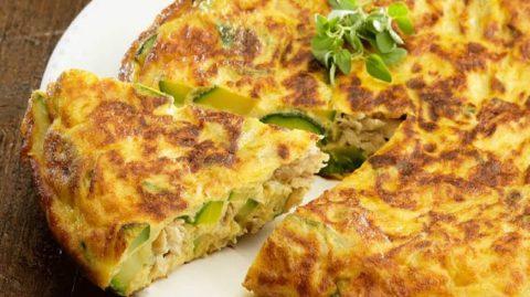 Ce dimanche on brunch avec la tortilla espagnole au thon et aux courgettes