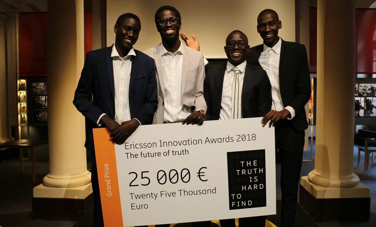 le s n gal remporte le premier prix ericsson innovation awards 2018 debbosenegal. Black Bedroom Furniture Sets. Home Design Ideas