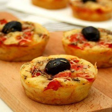 Pour accompagner vos soupes voilà les muffins façons pizza
