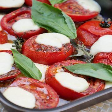 Dimanche soir : essayez les tomates rôties mozarella