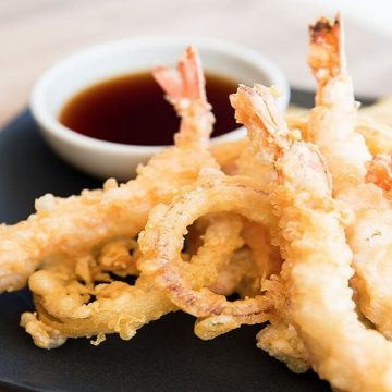 recette de tempura de crevettes à la sauce soja