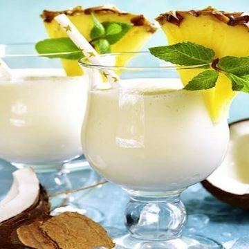 La pina colado cocktail frais et savoureux